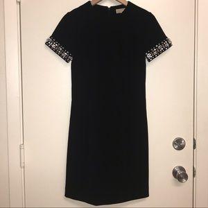 Michael Kors Dress Black with Rhinestone Size 0